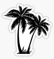 Black Palm Tree Sticker Sticker
