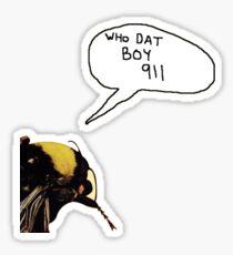 WHO DAT BOY 911 FLOWER BOY Sticker