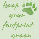 Keep your footprint green by missmoneypenny