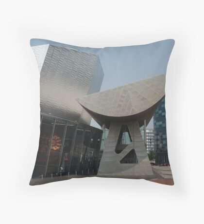 LS Lowry Building entrance Throw Pillow