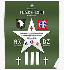 D Day WW2 Memorial Decoration Poster