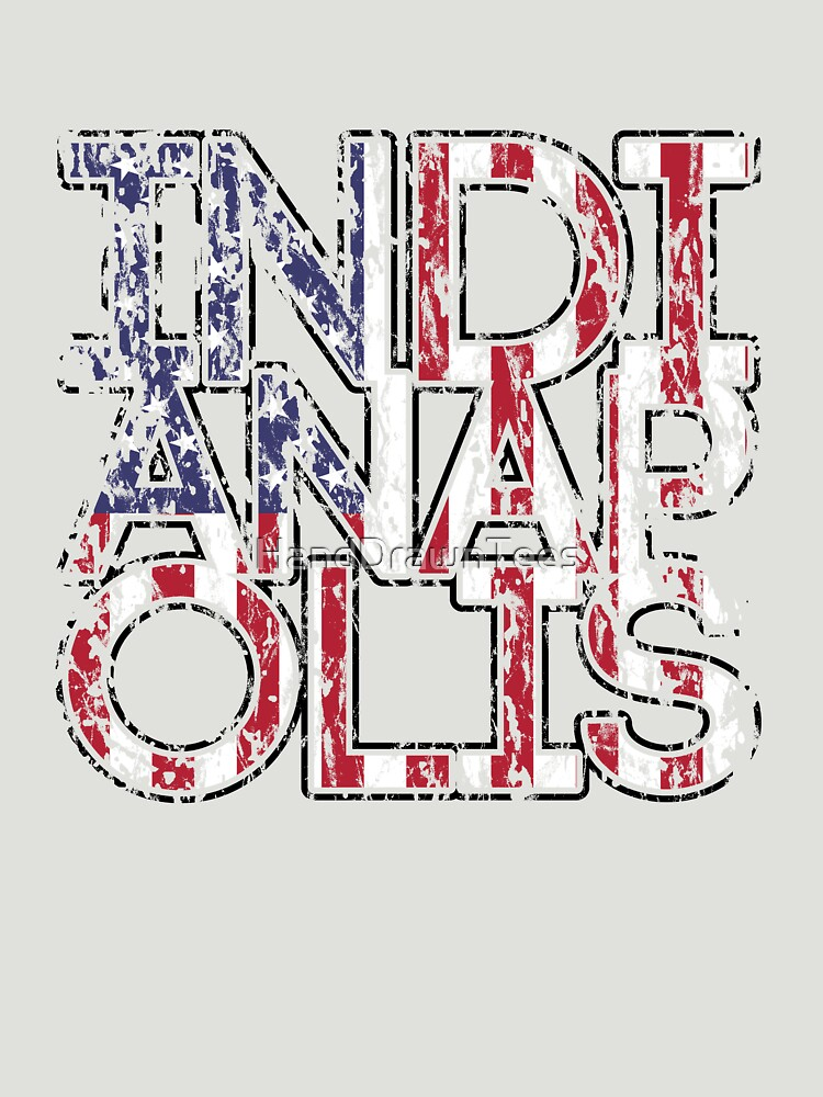US Flag City - Indianapolis by HandDrawnTees