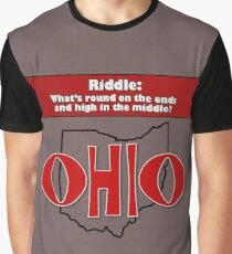 Ohio Riddle: Round on the Ends & High in the Middle Graphic T-Shirt