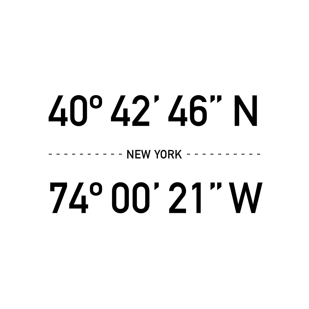 «NY coordina la ciudad de Nueva York en blanco y negro» de La Chic