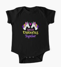 Let's Be Unicorns Together - Cute! One Piece - Short Sleeve