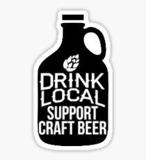 Drink Local Support Craft Beer Sticker