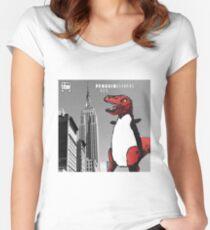 PENGUINOSARUS REX™ INVADES NEW YORK Women's Fitted Scoop T-Shirt