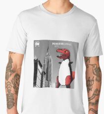 PENGUINOSARUS REX™ INVADES NEW YORK Men's Premium T-Shirt