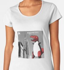 PENGUINOSARUS REX™ INVADES NEW YORK Women's Premium T-Shirt