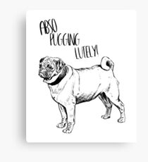 Cool Vintage Funny Pug Graphic Canvas Print