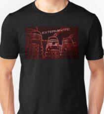 Daleks - Red Unisex T-Shirt