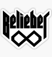 Belieber Forever - Black On White Sticker