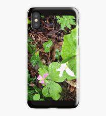 three trilliums in the rain iPhone Case/Skin