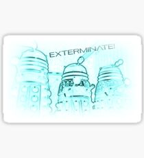 Daleks - Negative Sticker