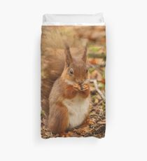 Little Tame Red Squirrel Duvet Cover
