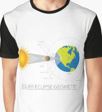 Solar Eclipse Geometry Illustration Graphic T-Shirt