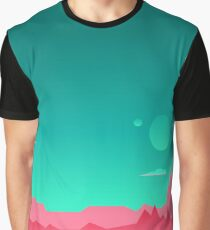 Game background Space landscape Graphic T-Shirt