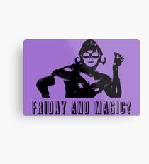 Friday and Magic? - Lili Metal Print