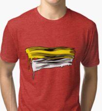 Lichtenstein Brush Strokes: Yellow Tri-blend T-Shirt