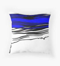 Lichtenstein Brush Strokes: Klein Blue Throw Pillow
