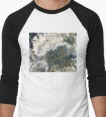 Acrylic Pour Turned Vector 2 Men's Baseball ¾ T-Shirt