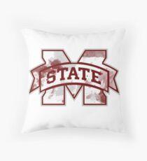 Mississippi State Tye-Dye Throw Pillow