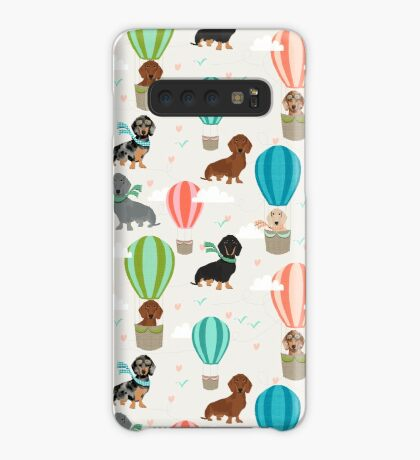 Dachshund hot air balloon dachsie doxie dog breed cute pattern for weener dog lover Case/Skin for Samsung Galaxy