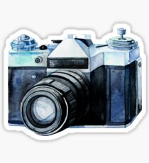 Watercolor vintage SLR camera Sticker