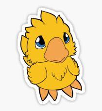 Chocobo Chick ~ Classic Yellow Sticker