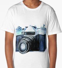 Watercolor vintage SLR camera Long T-Shirt