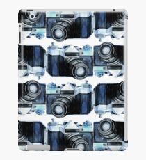 Watercolor vintage SLR camera iPad Case/Skin