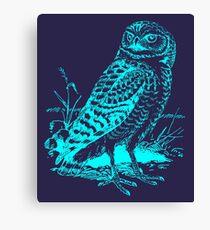 Cool Vintage Owl Graphic Canvas Print