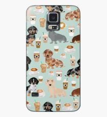 Dachshund coffee latte dachsie doxie dog breed cute pattern for weener dog lover Case/Skin for Samsung Galaxy
