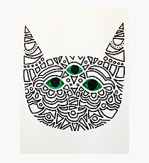 All-Seeing Cat Photographic Print