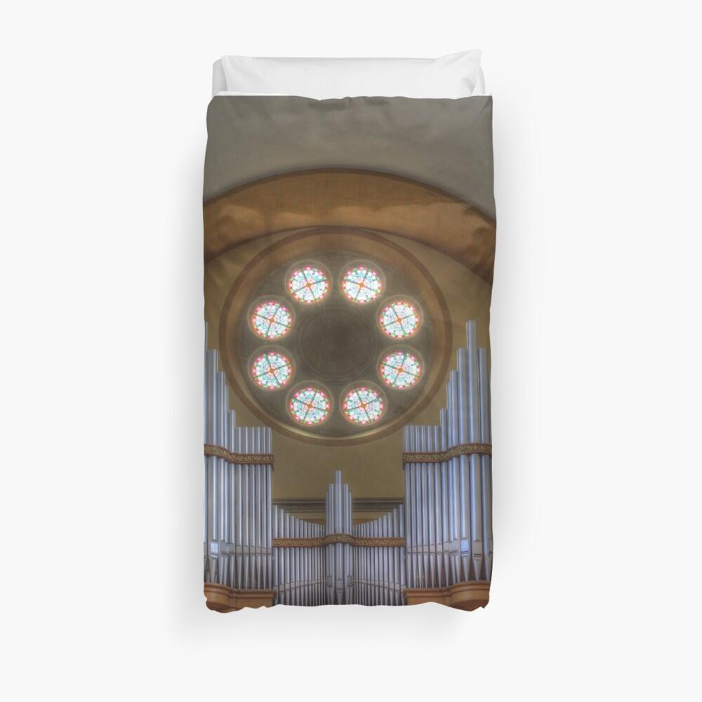 Pipe Organ St. Francis of Assisi Church, Vienna Austria Duvet Cover