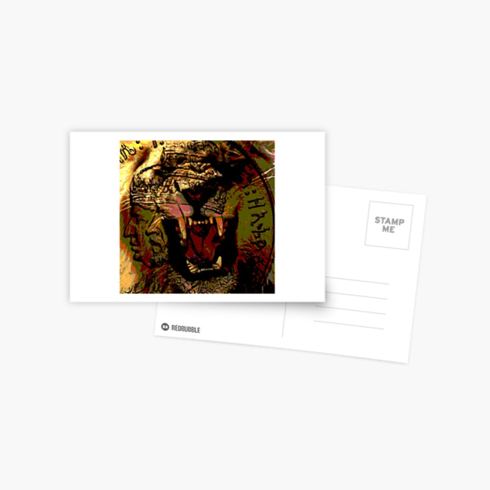Jah Rasta Lion Power Postcard