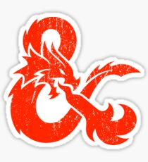 Dungeons and Dragons red Sticker