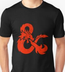Dungeons and Dragons red Unisex T-Shirt