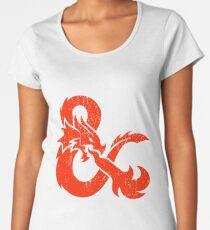 Dungeons and Dragons red Women's Premium T-Shirt