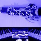 Kind Of Blue Musical Collage von Kathryn Jones