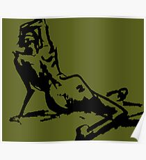 Reclined Figure Poster