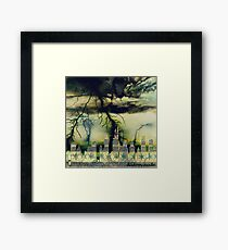Negatively Charged Chi-town Framed Print