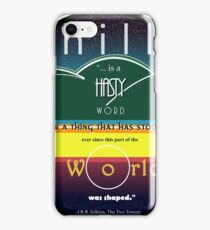 Hill, a hasty word... iPhone Case/Skin
