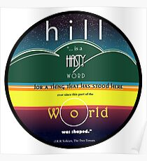 Hill, a hasty word... Poster