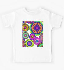 Flower Power Retro Style Hippy Flowers Kids Tee