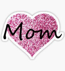 Mom (Pink Glitter) Sticker