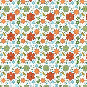 Spring Mix Flower Pattern by jeastphoto