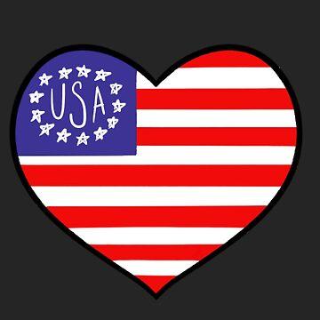 American flag love by jennieclayton