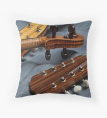 Musical Trio on Blue Throw Pillow