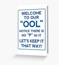 pool joke Greeting Card